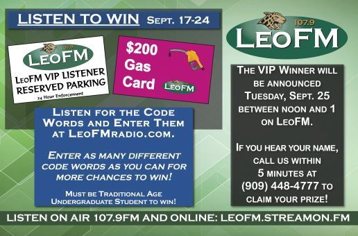 Listen to win LeoFM VIP Parking Spot and $200 Gas Card